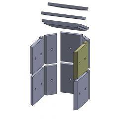 Wandstein vorne oben rechts 250x230x25mm (Vermiculite)