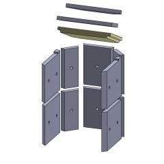 Heizgasumlenkplatte unten 312x245x30mm (Vermiculite)