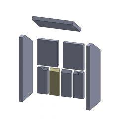 Rückwandstein unten mitte rechts/links 224x85x30mm (Vermiculite) passend für Wamsler**