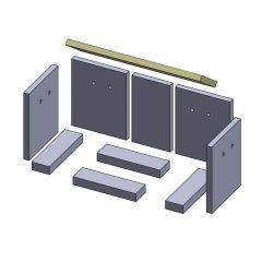 Heizgasumlenkplatte 490x130x20mm (Vermiculite)