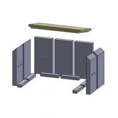 Heizgasumlenkplatte 397x229x30mm (Vermiculite) passend für Fireplace** | schamotte-shop.de