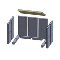 Heizgasumlenkplatte 360x255x20mm (Vermiculite)