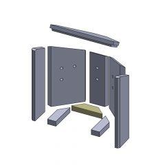 Bodenstein hinten 185x50x30mm (Vermiculite) passend für Fireplace** | schamotte-shop.de