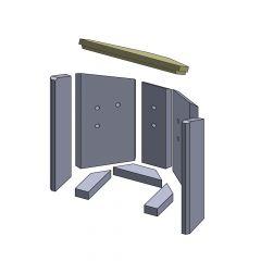 Heizgasumlenkplatte 380x237x30mm (Vermiculite) passend für Fireplace** | schamotte-shop.de