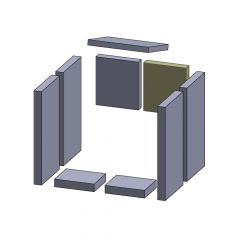 Rückwandstein rechts 185x165x30mm (Vermiculite) passend für Fireplace** | schamotte-shop.de