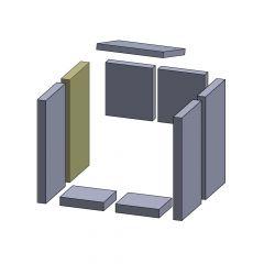 Wandstein hinten links 360x183x30mm (Vermiculite) passend für Fireplace** | schamotte-shop.de
