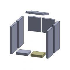 Bodenstein vorne links/rechts 154x120x30mm (Vermiculite)