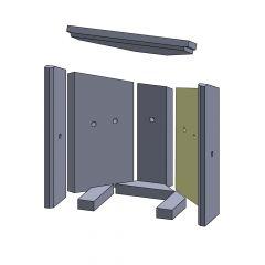 Wandstein hinten rechts 375x210x25mm (Vermiculite) passend für Fireplace**Kolding | schamotte-shop.de