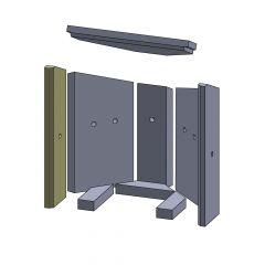 Wandstein vorne links 435x120x25mm (Vermiculite) passend für Fireplace**Kolding | schamotte-shop.de
