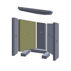 Wandstein hinten links 375x210x25mm (Vermiculite) passend für Fireplace**Kolding | schamotte-shop.de