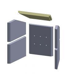 Heizgasumlenkplatte 400x250x30mm| Feuerraumauskleidung | Fireplace** | Schamotte-Shop.de