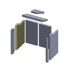 Wandstein hinten links 425x257x25mm (Vermiculite) passend für GKT**