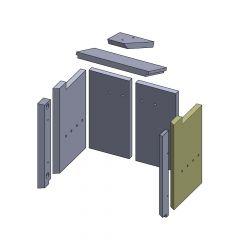 Wandstein hinten rechts 425x257x25mm (Vermiculite) passend für GKT**