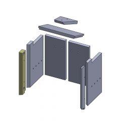 Wandstein vorne links 424x70x25mm (Vermiculite) passend für GKT**
