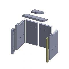 Wandstein vorne rechts 424x70x25mm (Vermiculite) passend für GKT**