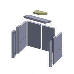 Heizgasumlenkplatte oben 215x165x25mm (Vermiculite) passend für GKT**