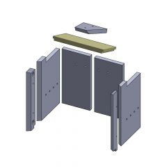 Heizgasumlenkplatte unten 350x178x25mm (Vermiculite) passend für GKT**