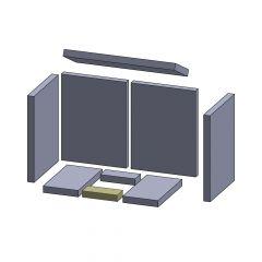 Bodenstein vorne/hinten 135x55x25mm (Schamotte) passend für Oranier**