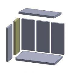 Wandstein hinten/vorne 450x150x25mm ▷ für Oranier** Pateo R