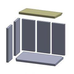 Heizgasumlenkplatte 478x270x25mm (Vermiculite) passend für Oranier**