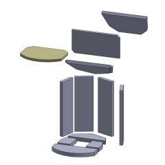 Heizgasumlenkplatte vorne 330x256x20mm (Vermiculite) ▷ für Oranier** Pisa ◁ Ersatzteil Kaminofen