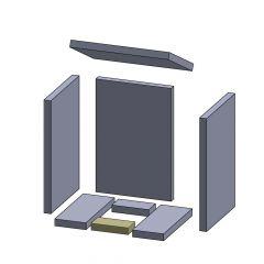 Bodenstein vorne/hinten 135x65x25mm passend für Oranier**