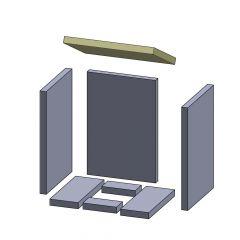 Heizgasumlenkplatte 360x260x25mm passend für Oranier**
