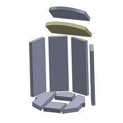 Heizgasumlenkplatte gelocht unten 320x232x25mm (Vermiculite) passend für Oranier**