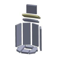 Heizgasumlenkplatte oben 320x232x25mm (Vermiculite) passend für Oranier**