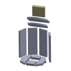 Abschirmung 200x170x25mm (Vermiculite) passend für Oranier**