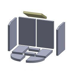 Heizgasumlenkplatte 270x230x25mm (Vermiculite) passend für Oranier**