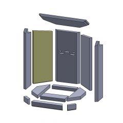 Wandstein hinten links/rechts 505x182x25mm (Vermiculite) ▷ für Oranier** Aqua Modul