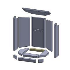 Bodenstein hinten 230x38x30mm ▷ für Oranier** KE 706 Aqua Modul Kamine