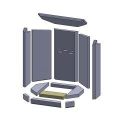 Bodenstein vorne 230x88x30mm ▷ für Oranier** Aqua Modul Kamine