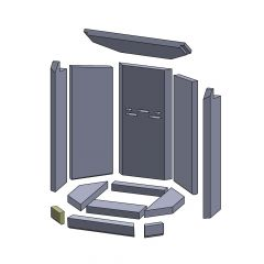 Bodenstein/Vorderstein links 84x54x25mm ▷ für Oranier** Aqua Modul B