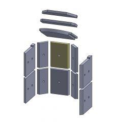 Rückwandstein oben/unten 230x180x25mm (Vermiculite) passend für Hark**
