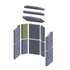 Wandstein hinten oben/unten links/rechts 230x105x25mm (Vermiculite) passend für Hark**