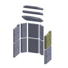 Wandstein vorne oben rechts 245x230x25mm (Vermiculite) passend für Hark**