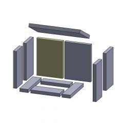 Rückwandstein links/rechts 285x200x25mm (Schamotte) passend für Hark**