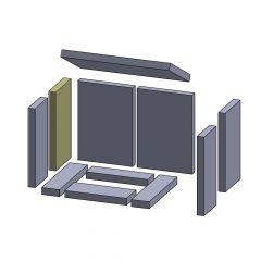 Wandstein hinten links/rechts 285x145x25mm (Schamotte) passend für Hark**