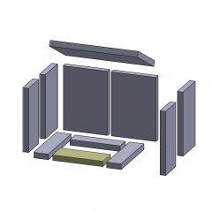 Bodenstein vorne 225x90x25mm (Schamotte) ▷ für Hark** Borgholm