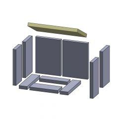 Heizgasumlenkplatte 395x220x25mm (Vermiculite) passend für Hark**