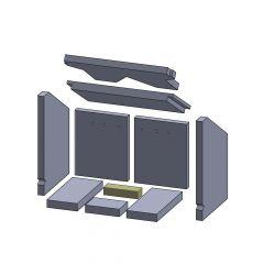 Bodenstein hinten 135x44x30mm (Vermiculite) passend für Oranier**