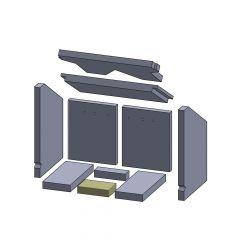 Bodenstein vorne 135x88x30mm (Vermiculite) passend für Oranier**