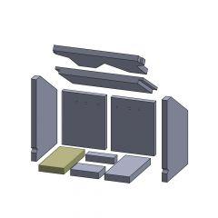 Bodenstein links/rechts 267x120x30mm (Vermiculite) passend für Oranier**