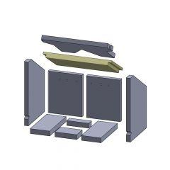 Heizgasumlenkplatte unten 420x210x30mm (Vermiculite) passend für Oranier**