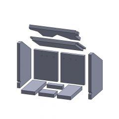 Feuerraumauskleidung Komplettset 10-teilig ▷ für Oranier** Patrona 3 Kamine ◁ Kamin Ersatzteile