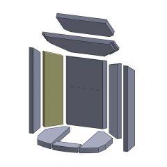 Wandstein hinten links/rechts 455x115x25mm (Vermiculite) ▷ für Oranier**Typ 4654 6B