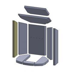 Wandstein vorne links/rechts 520x115x25mm (Vermiculite) passend für Oranier**