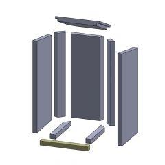 Bodenstein vorne 325x35x30mm (Vermiculite) ▷ für Thermia** Neuwerk